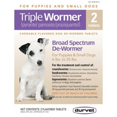 Triple Wormer for Small Dogs 2ct