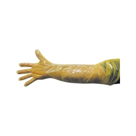 Glove Shoulder Length 1mil-Yellow 100ct