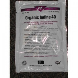 Organic Iodine 40grain with salt (1lb)