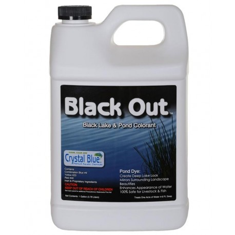 CLOSEOUT!!! Crystal Blue Black Out Lake & Pond Colorant gallon
