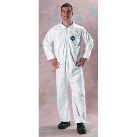 Coveralls-Tyvek-White open wrist/ankle 25ct
