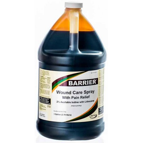 Barrier Wound Spray with Pain Relief  FOUR gallon