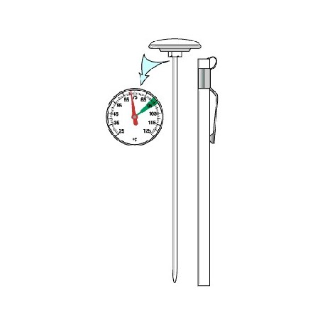 Thermometer, Shaded F Round Dial